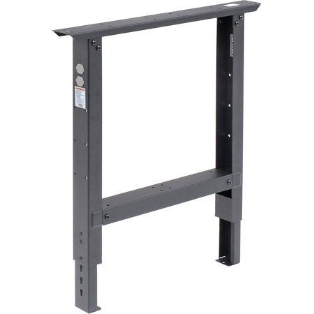 """Adjustable Height Leg For 30"""" Bench, 29"""" to 35"""", Black, Lot of 1"""