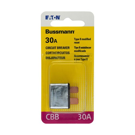 BUSSMANN CBB-30 - 30 Amp Type Ii Atc Blade Circuit Breaker 12Vdc- One Per Polybag (Pack of 1) Apc Circuit Breaker