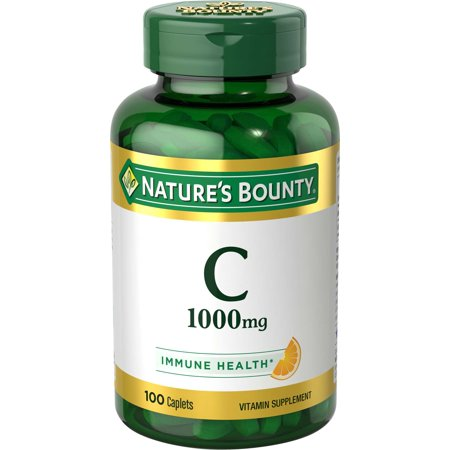 Nature's Bounty Vitamin C Caplets, 1000mg, 100Ct (1,000 Mg 100 Tabs)