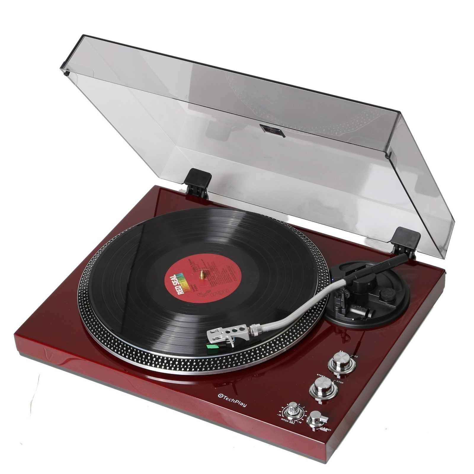 TechPlay Analog Turntable with Built-in Phono Pre-amplifier, By-Pass selecter,... by Tech Play