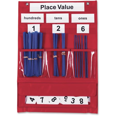 Learning Resources, LRNLER2416, Counting/Place Value Pocket Chart, 1 Each (Count Chart)