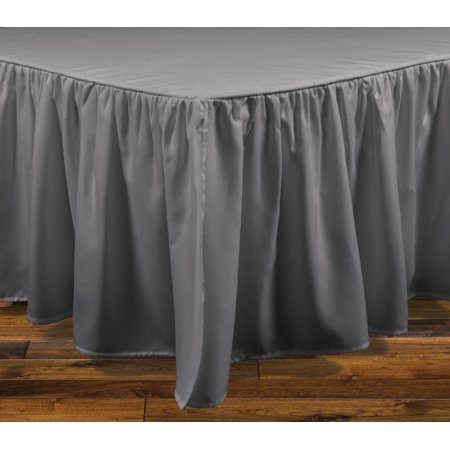 Image of Brielle Stream Queen Bed Skirt, Grey