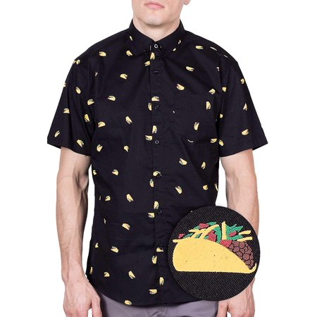 bb346baa5 Visive - Mens Taco Hawaiian Shirt | Short Sleeve Button Down Up Casual  Printed Tee Shirts L - Walmart.com