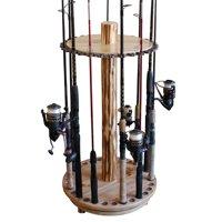 Rush Creek Creations 30 Fishing Rod Round Spinning Storage Rack