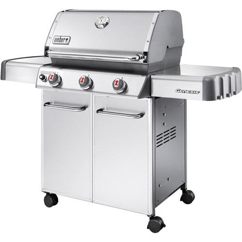 Weber Genesis S310 38,000 BTU 3 Burner Gas Grill LP, Stainless Steel
