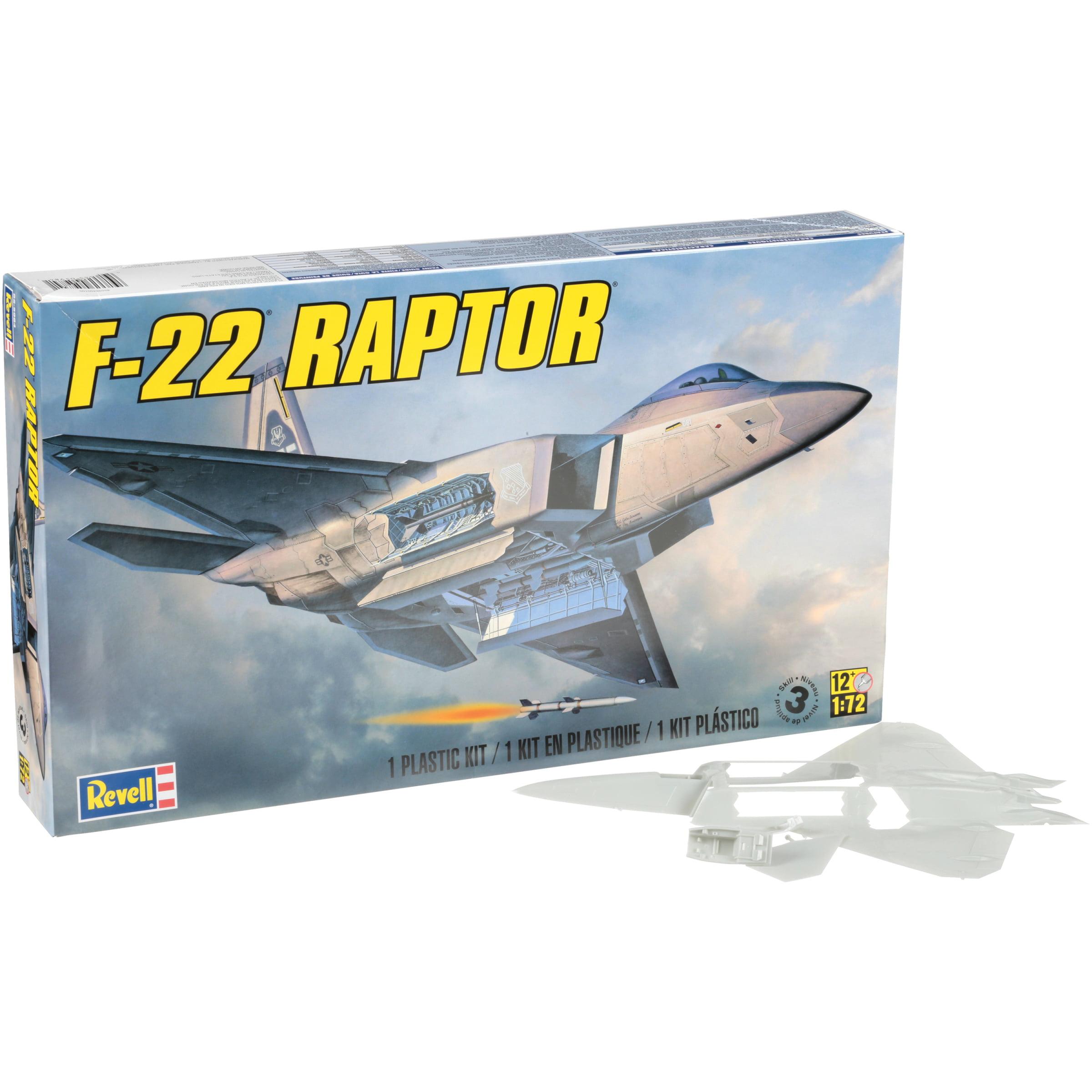 Revell F-22 Raptor Plastic Model Plane Kit 116 pc Box by Revell Inc.
