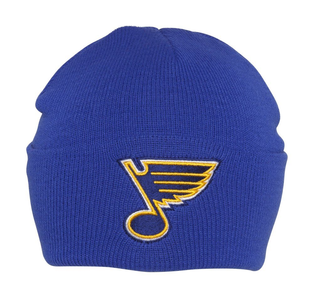 St Louis Blues NHL American Needle Basic Knit Beanie Hat - Royal Blue