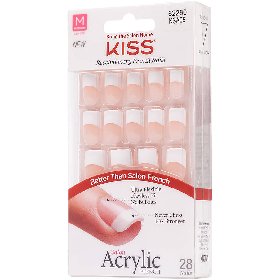 Kiss French Acrylic Nail Kit, Simple Life, 31 pc