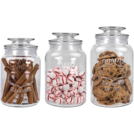Three Piece Canister Set (Home Basics 3 Piece Canister Set with Lid)