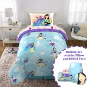 Disney's Mulan Twin Bed in a Bag Bedding Set, w/ reversible comforter, decorative pillow, and bonus tote!