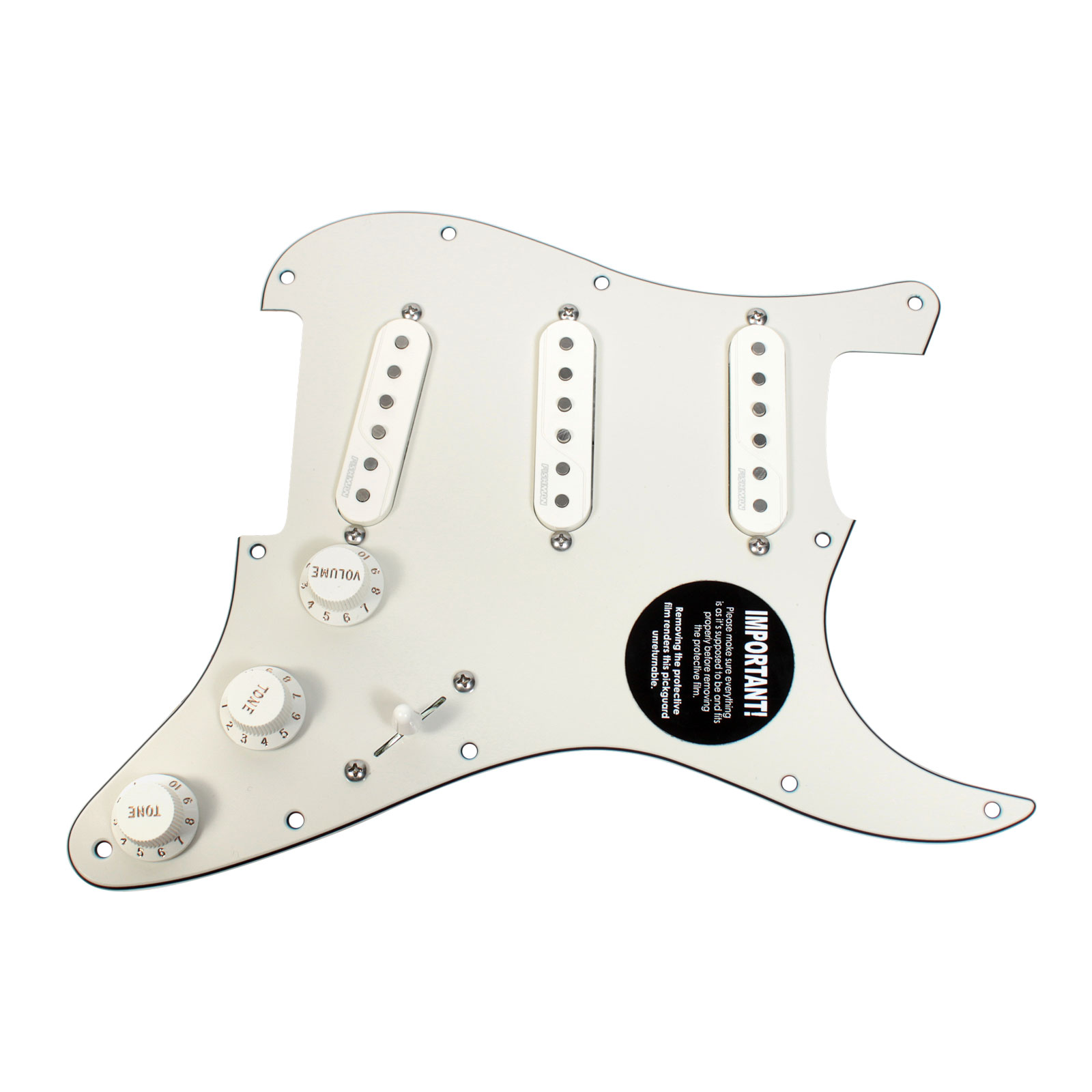 Pre Wired Fishman Fluence Loaded Pickguard for Fender Strat Stratocaster PA PA by