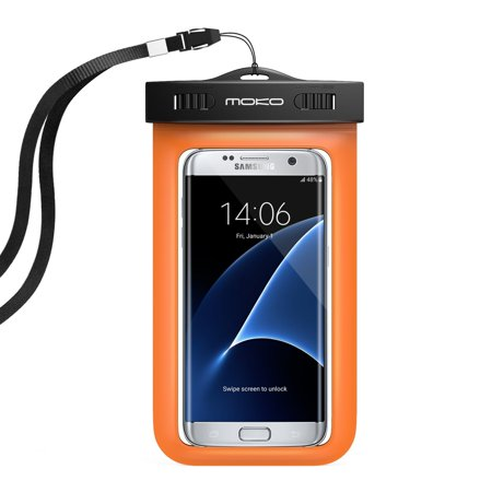 Universal Waterproof Phone Case, MoKo IPX 8 Waterproof Phone Pouch Dry Bag with Armband &