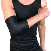 Padded Compression Arm Sleeve Brace Anti-slip Anti-collision Sports Elbow Support Protector Gear 1PC