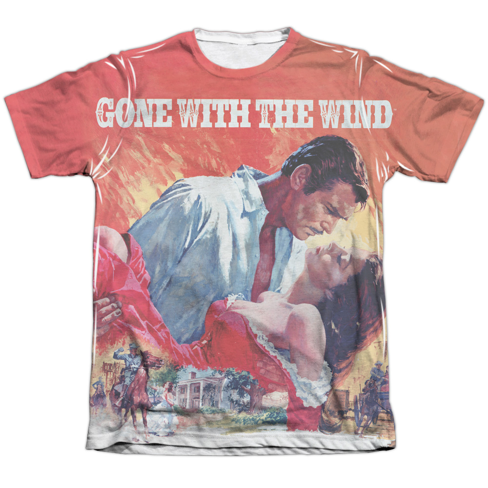 Gone With The Wind Poster (Front Back Print) Mens Sublimation Shirt