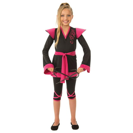 Girls Ninja Girl Costume - Female Ninja Weapons
