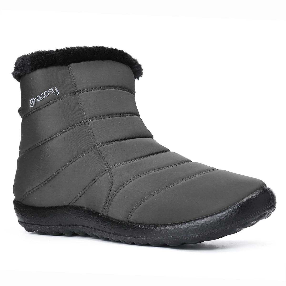 Kudosale 2020 Women Spring Winter Fashion Snow Boots Warm Ankle Boots Anti Skid High Top Shoes Walmart Com Walmart Com