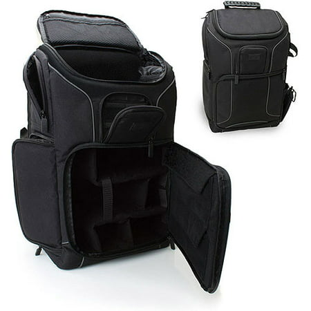 Professional Gear Backpack for Cameras , Laptops and Accessories by USA Gear - Works with Canon , Fujifilm , Sony and Many Other DSLR , Mirrorless & Instant