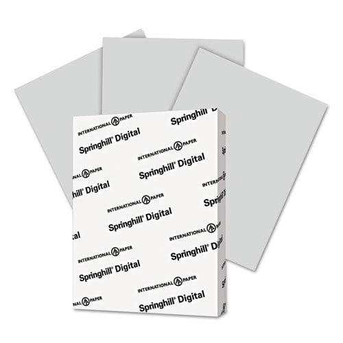 "Springhill Vellum Bristol Copy & Multipurpose Paper - For Laser, Inkjet Print - Letter - 8.50"" X 11"" - 67 Lb - Recycled - Vellum, Smooth - 250 / Pack - Gray (066000)"
