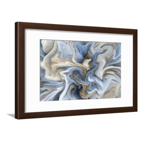 Marble Stone Background Texture, Abstract Mottled Grunge Background Texture with Spotty Pattern Wal Blue Living Room Art Framed Print Wall Art By traveler5 ()