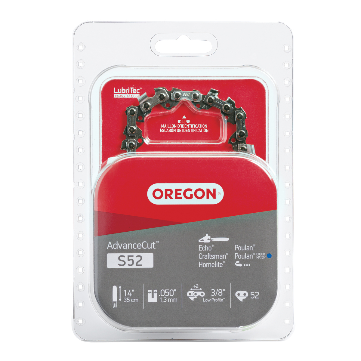 Oregon S52 AdvanceCut™ Saw Chain, 14""