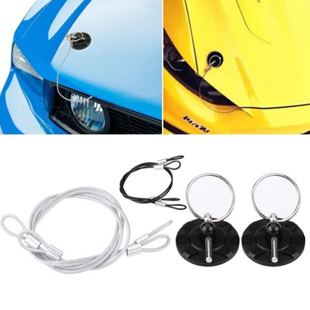 Racing Hood Pin,Fosa 2pcs Universal CNC Billet Aluminum Racing Bonnet Hood Pin Latch Lock Appearance Kit, Hood Lock, Hood latch Pin ()
