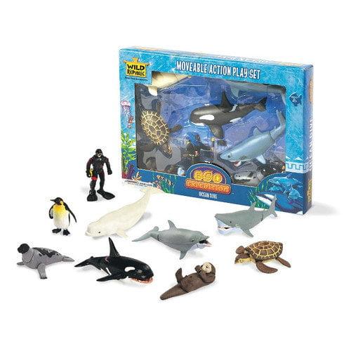 Wild Republic Wild Republic Toy Moveable Action Playset Aquatic Ocean Dive