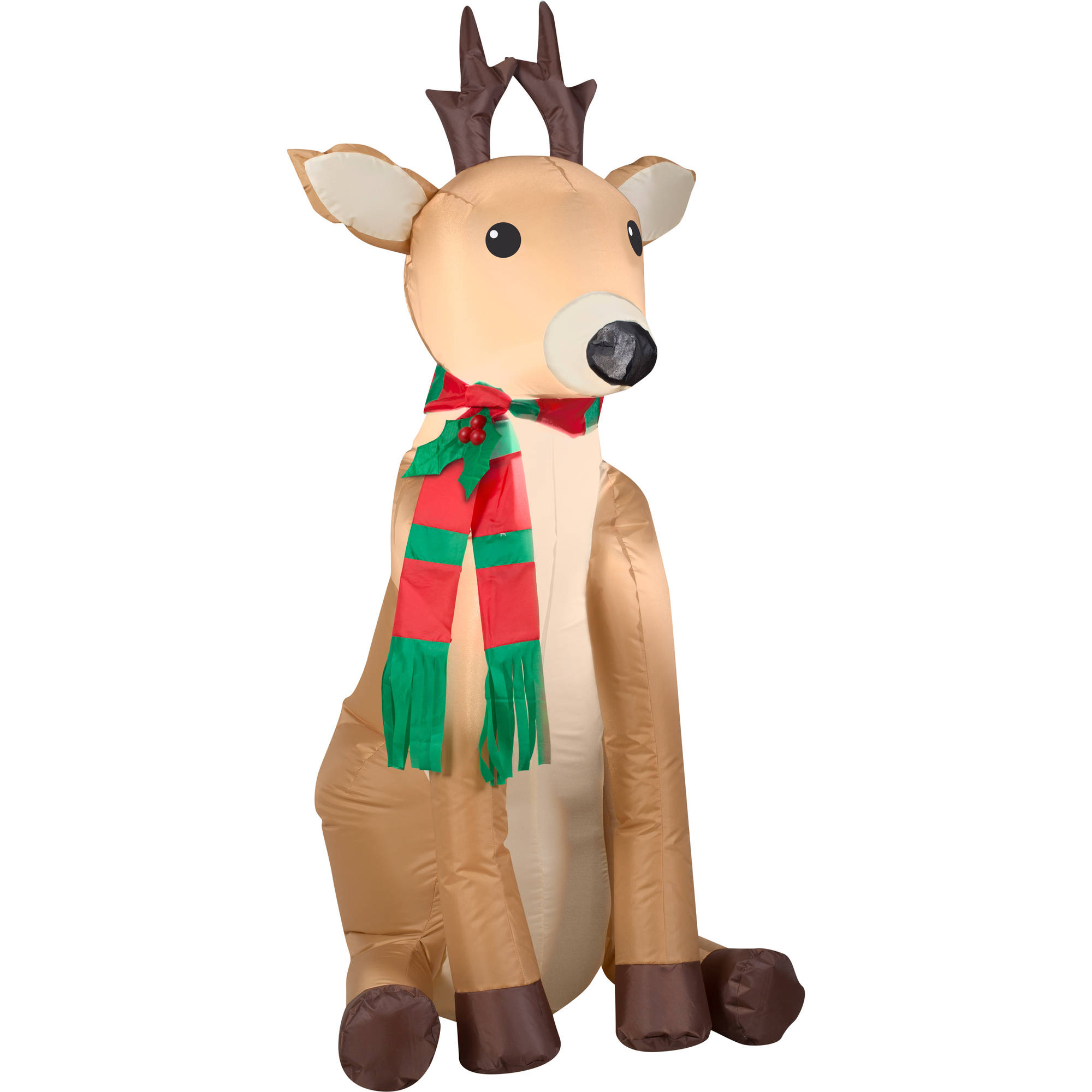 gemmy airblown christmas inflatables reindeer 4 walmartcom - Christmas Inflatables At Walmart