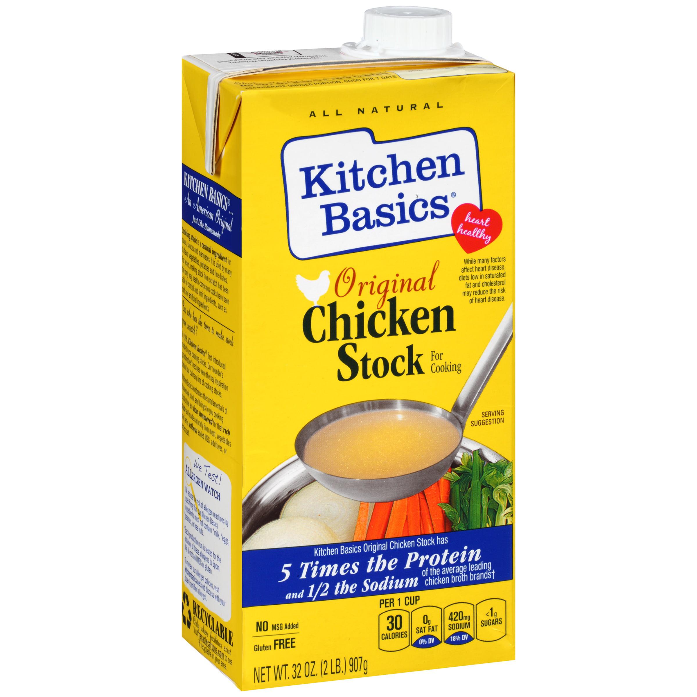 Kitchen Basics Original Chicken Stock, 32 oz - Walmart.com