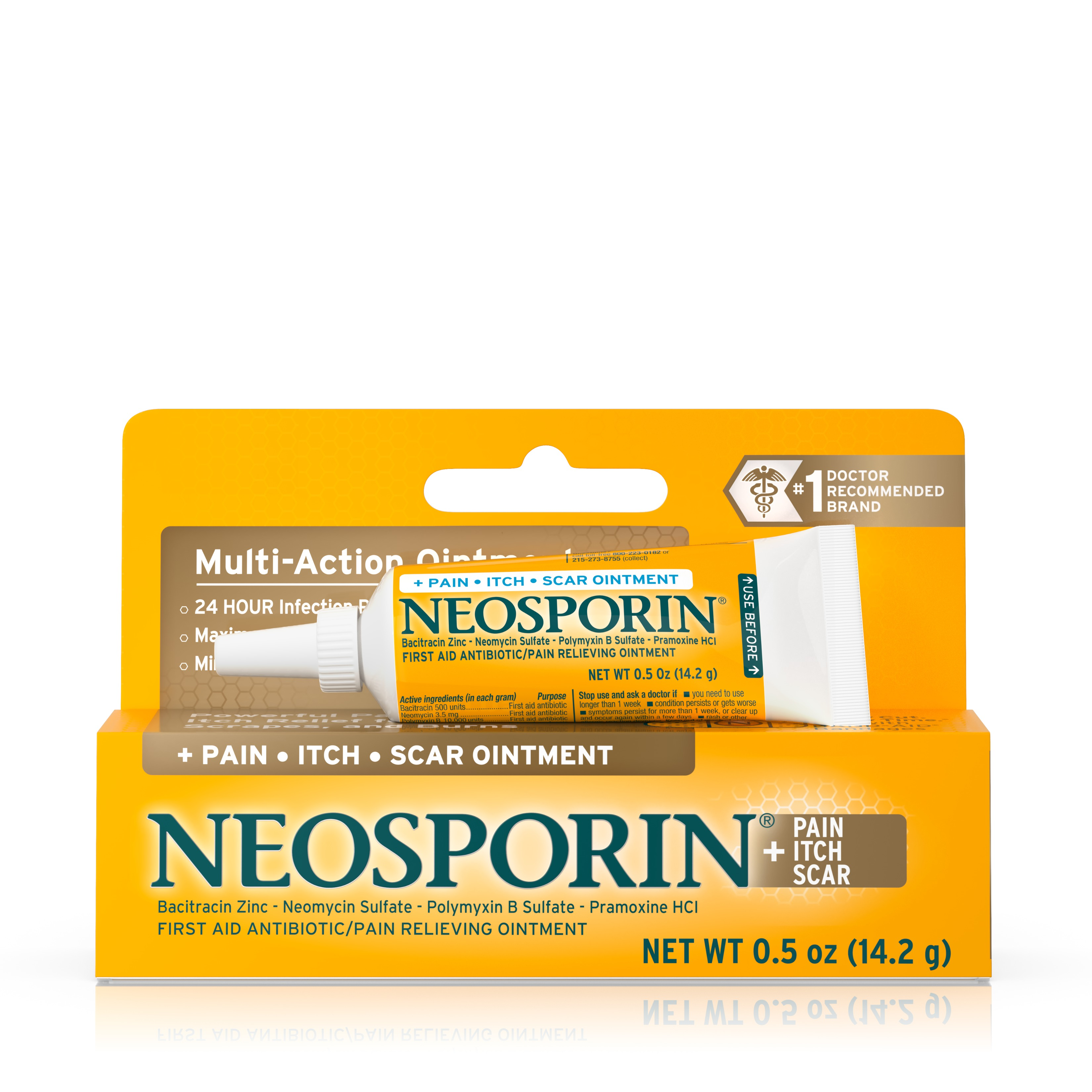 Neosporin + Pain, Itch, Scar Antibiotic Ointment, .5 Oz