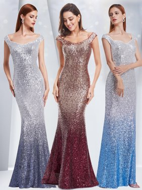 821d194de5b Product Image Ever-Pretty Womens Sequins Off Shoulder Mermaid Long Wedding  Party Mother of the Bride Dresses