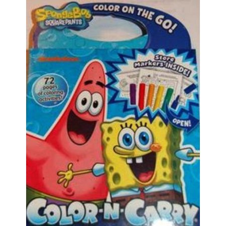 Giddy-Up Color N Carry Activity Book (Spongebob), Each kit includes jumbo crayons or markers, over 100+ coloring activities By Giddy Up Ship from (N Carry Activity)