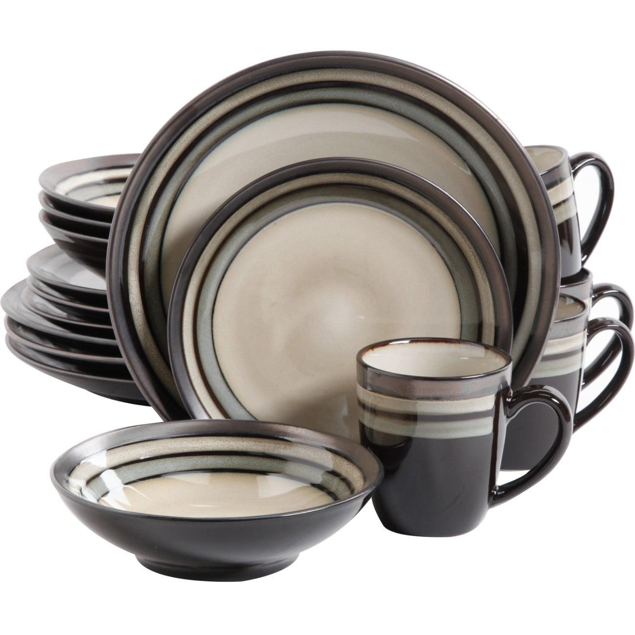 sc 1 st  Walmart & Gibson Lewisville 16pc Dinnerware Set - Gray - Walmart.com