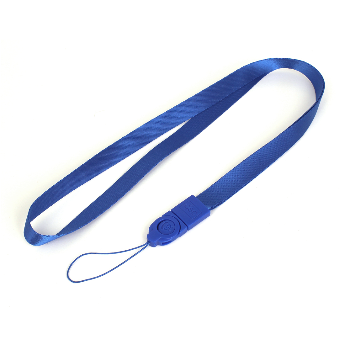 Unique Bargains Plastic Polyester Neck Strap ID Card Badge Holder Lanyard School Office Bank Students Stationery Blue