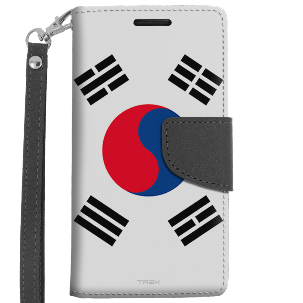 LG Leon Wallet Case South Korea Flag by Trek Media Group