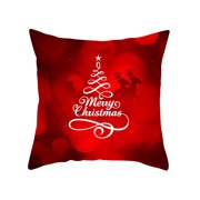 Christmas Home Throw Pillow Cases Xmas Sofa Snowman Soft Bedroom Cushion Covers