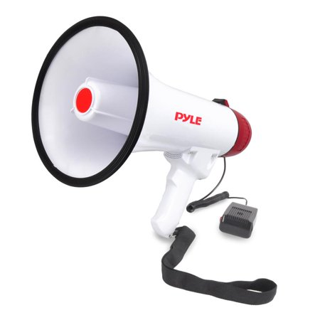 Large Megaphone (PYLE PMP40 - Megaphone Speaker, Audio PA System with Wired Microphone, Siren Alarm, Adjustable)