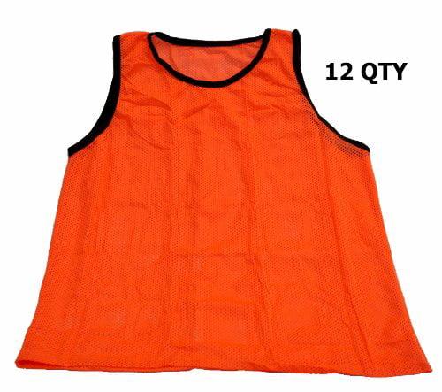 Adult Orange Soccer Pinnies (Set of 12) Scrimmage Vests M...