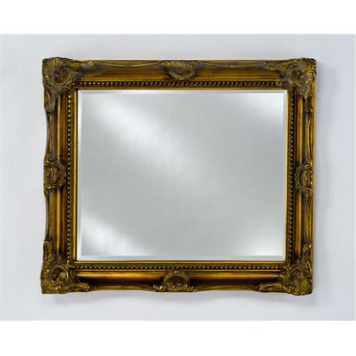 Afina Corporation EC17-2834-BG 28 inchx 34 inchEstate Small Royale Decorative Wall Mirror - Antique Burnished Gold
