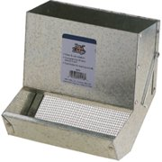 Pet Lodge AF7S Small Animal Feeder with Sifter Bottom, Steel