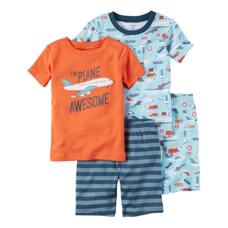 Pjs Clothing (Carters Baby Clothing Outfit Boys 4-Piece Snug Fit Cotton PJs I'm Plane Awesome)
