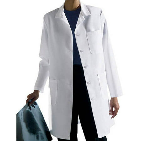 d7eb7736e38 Medline - Ladies Classic Staff Length Lab Coat Size 4 - Walmart.com