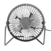 Metal Portable 4 inch USB Powered Fan Office Desk Mini Fan Powerful Wind for PC Laptop Notebook