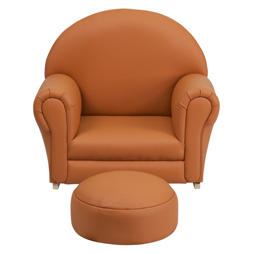 Flash Furniture Kids Vinyl Rocker Chair and Footrest, Multiple Colors
