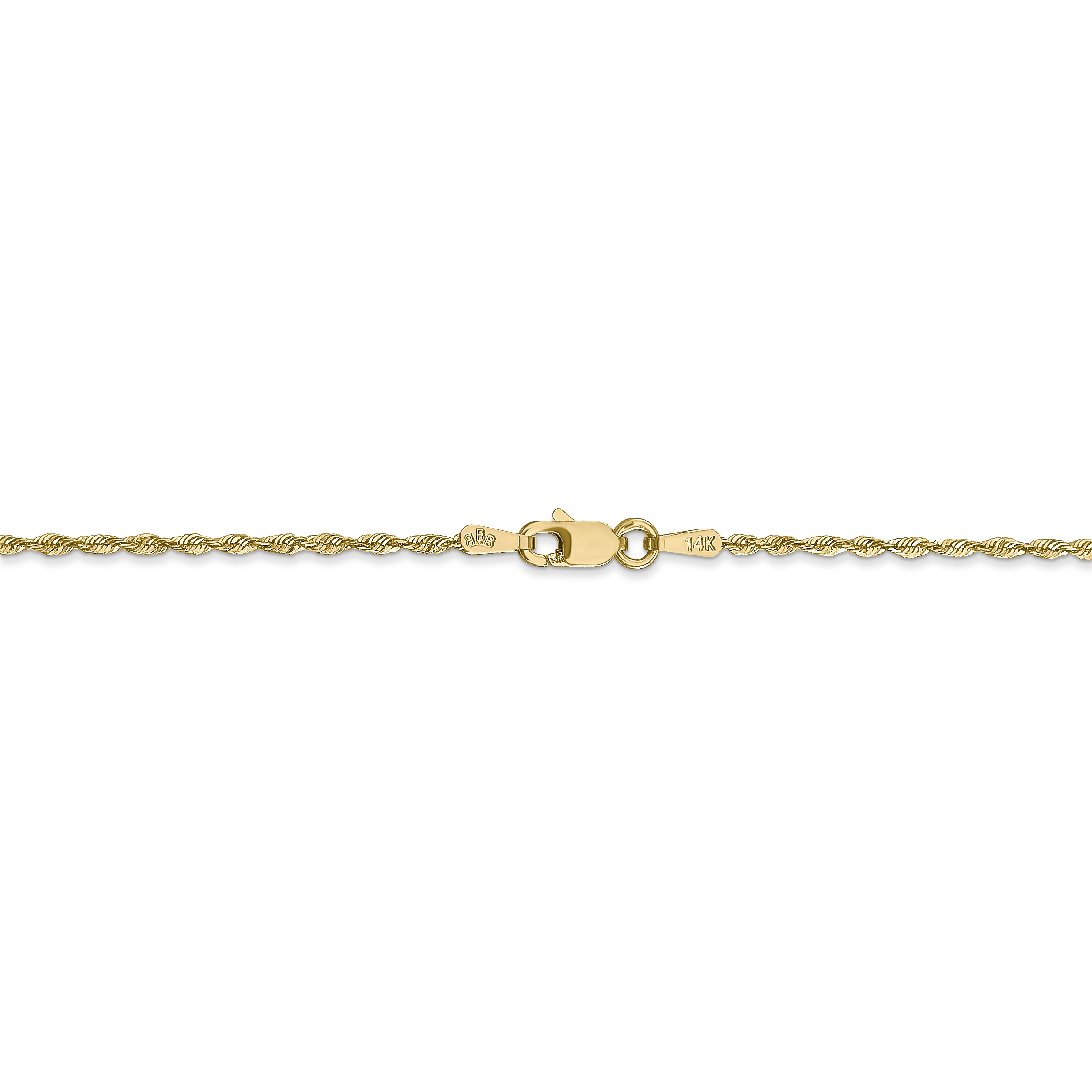 14k Yellow Gold 1.5mm Link Rope Chain Anklet Ankle Beach Bracelet 9 Inch Handmade Fine Jewelry Gifts For Women For Her - image 3 of 4