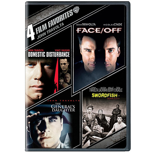 4 Film Favorites: John Travolta - Domestic Disturbance / Face/Off / The General's Daughter / Swordfish (Widescreen)