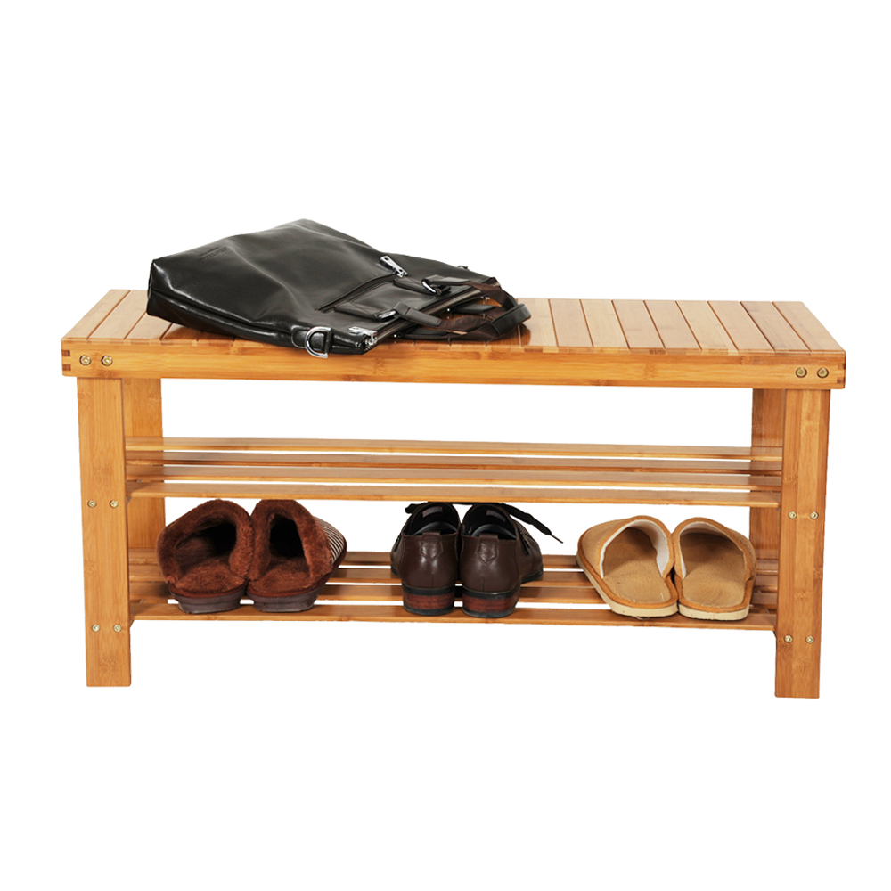 Shoe Storage Bench, 3 Tier Bamboo Shoe Rack Bench, Shoe Organizer, Storage  Shelf, Holds Up To 264 Lb, Ideal For Entryway Hallway Bathroom Living Room  ...