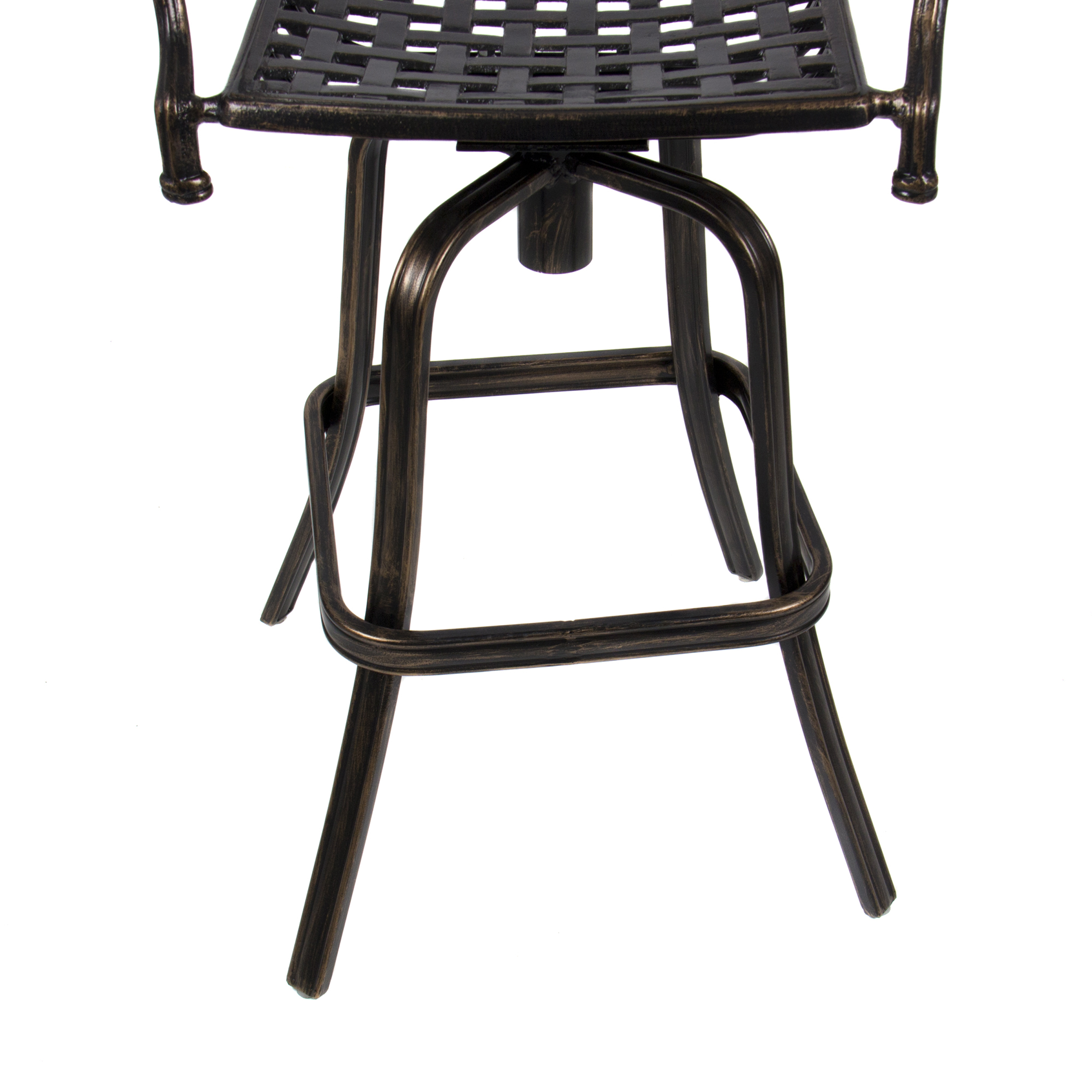 Best Choice Products Outdoor Cast Aluminum Swivel Bar Stool Antique Copper Design