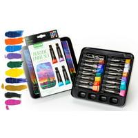 Crayola Signature Acrylic Paint Set With Decorative Storage Tin, 16 Count