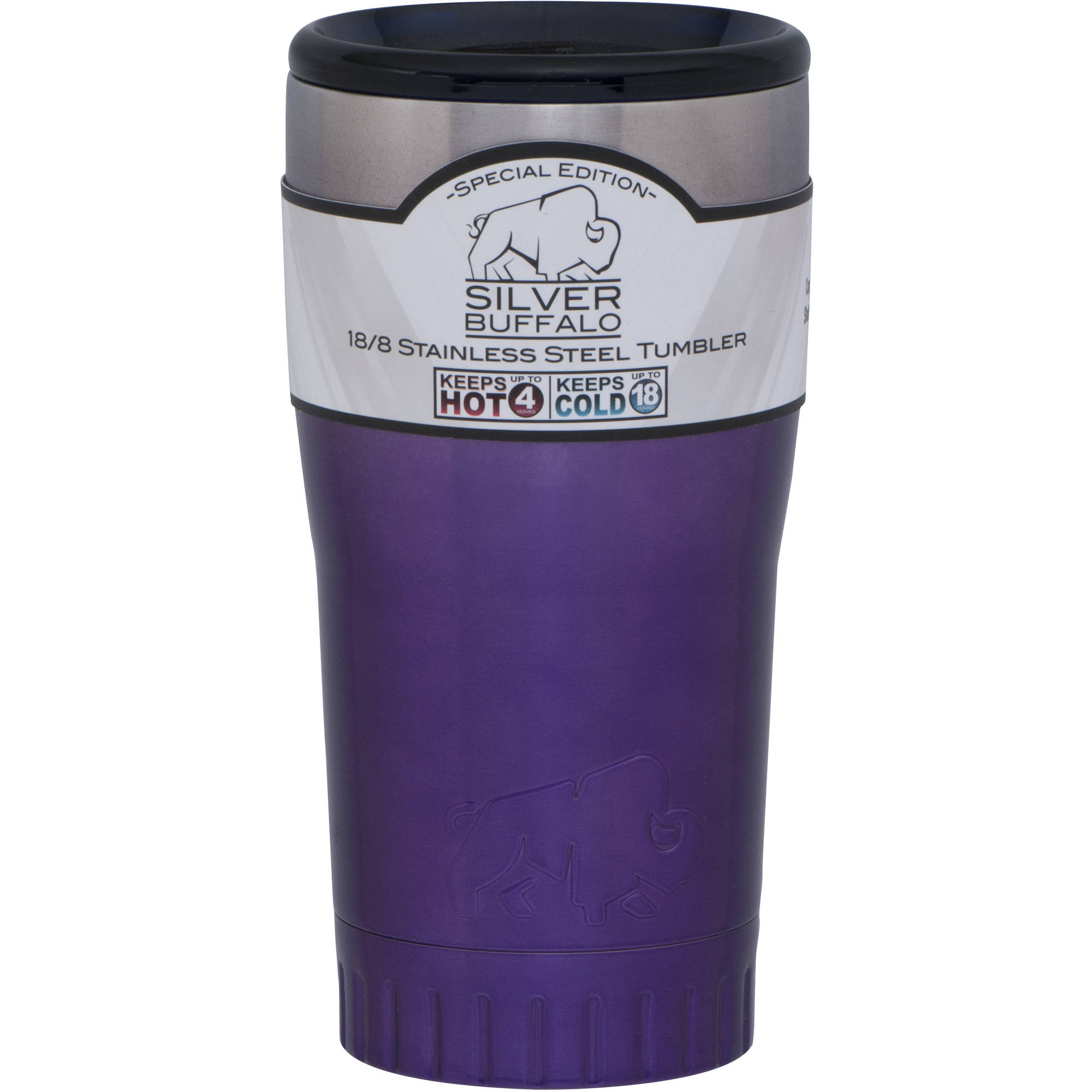 20 oz Stainless Steel Tumbler Cup by Silver Buffalo Ombre Purple by Generic
