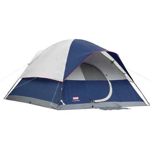 Coleman Elite Sundome 6-Person Tent with LED Light, 12' x 10'